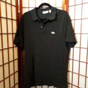 Lacoste black slim fit polo shirt. Mens XXL